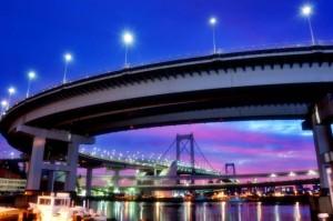 夜景ベイブリッジの画像
