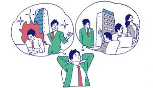 サラリーマンアニメ画像